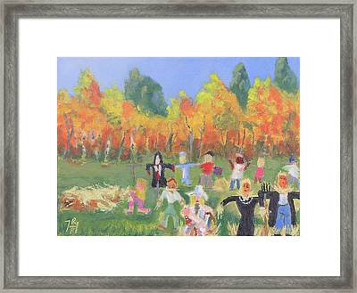 Scarecrow Contest Framed Print by Robert P Hedden