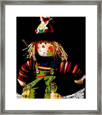 Scarecrow Framed Print by David Alvarez