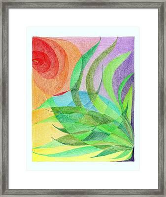 Scarf Pattern Poppy Framed Print by Tatyana Zverinskaya