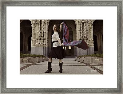 Framed Print featuring the photograph Scarf Wrap by Sherry Davis