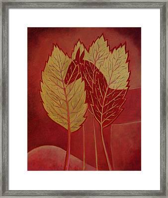 Framed Print featuring the painting Scarlet Dream by Tone Aanderaa