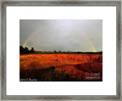 Framed Print featuring the photograph Scarlet Pit by John Burns