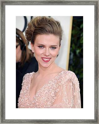 Scarlett Johansson At Arrivals For The Framed Print by Everett