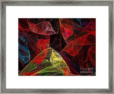 Scarletts Silk Scarves Framed Print