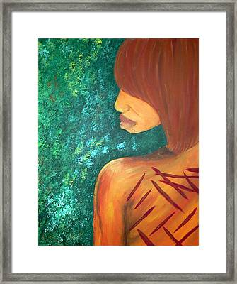Scars Of My Past Framed Print by Kayon Cox