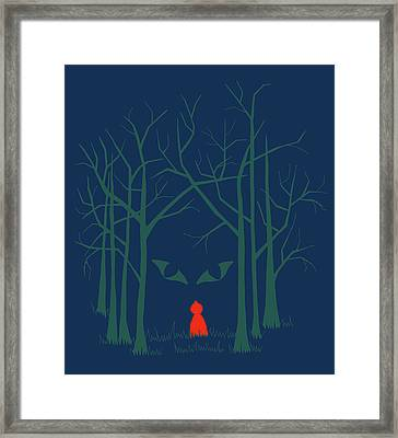 Scary Home Framed Print by Illustrations