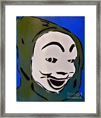 Scary Hoodie Framed Print by Tom Evans