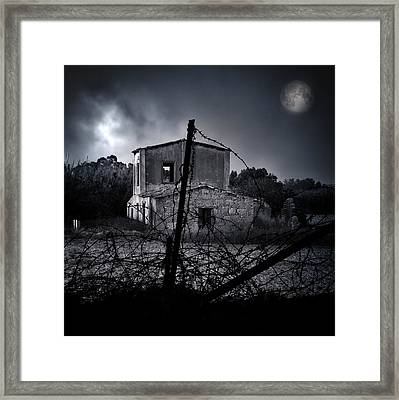 Scary House Framed Print
