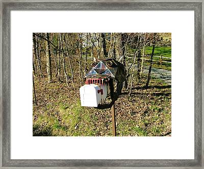 Framed Print featuring the photograph Scary Mailbox 3 by Sherman Perry