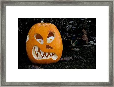 Scary Pumpkin Framed Print