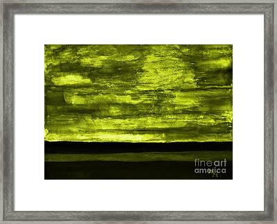 Scary Skies Framed Print