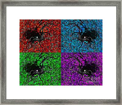 Scary Spider Serigraph Framed Print by Al Powell Photography USA