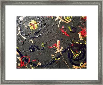 Scatter Framed Print by Lisa Williams