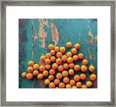 Scattered Tangerines Framed Print