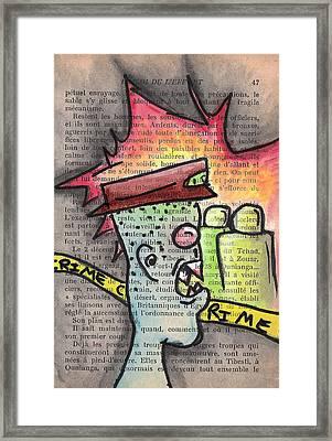 Scene Of The Crime Framed Print by Jera Sky