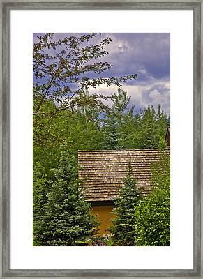 Scene Through The Trees - Vail Framed Print by Madeline Ellis