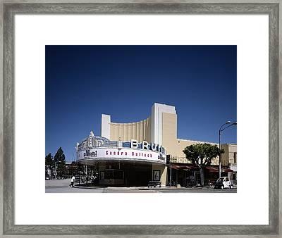 Scenes Of Los Angeles, The Mann Bruin Framed Print