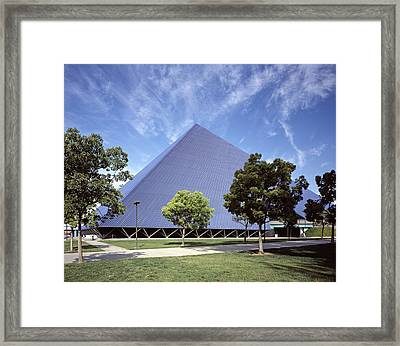 Scenes Of Los Angeles, The Pyramid Framed Print
