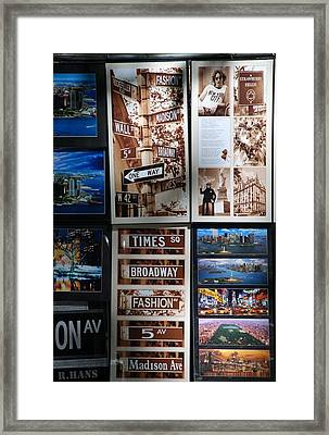 Scenes Of New York Framed Print by Rob Hans