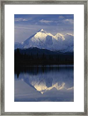 Scenic Mountain Lake Framed Print by Natural Selection Robert Cable