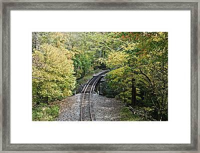 Scenic Railway Tracks Framed Print by Susan Leggett