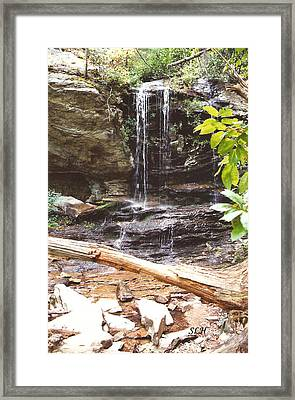 Scenic Waterfall Framed Print