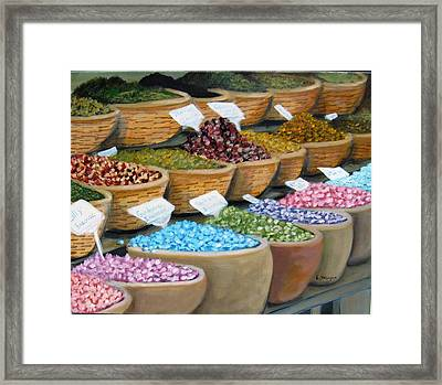 Scents For The Senses Framed Print by Laurie Morgan