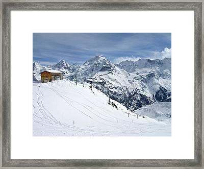 Schilthorn Ski Area Above Grindelwald, Switzerland Framed Print by Yvette Cardozo