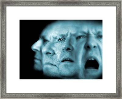 Schizophrenia, Conceptual Image Framed Print by Victor Habbick Visions