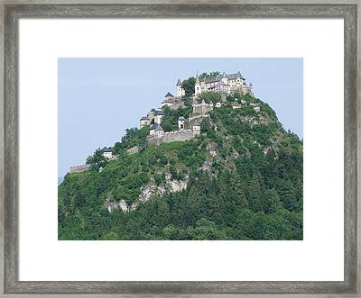 Framed Print featuring the photograph Schloss Hochosterwitz Austria  by Joseph Hendrix