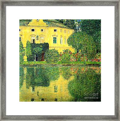 Schloss Kammer On The Attersee Framed Print by Pg Reproductions