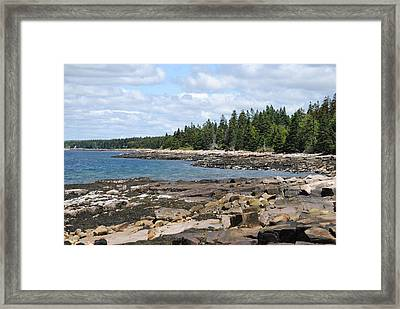 Schoodic Peninsula  Framed Print by Steven Scott