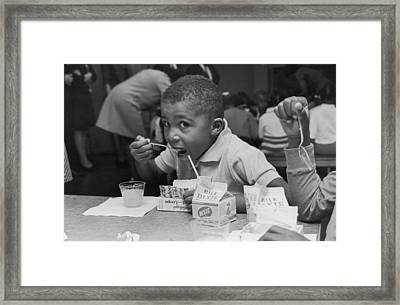 School Breakfast Framed Print by Archive Photos