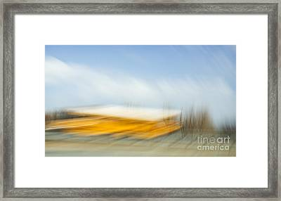 School Bus Framed Print by Elena Nosyreva