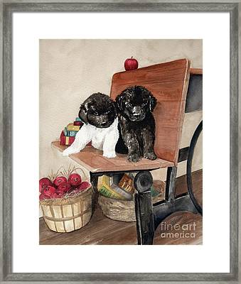Framed Print featuring the painting School Days by Nancy Patterson