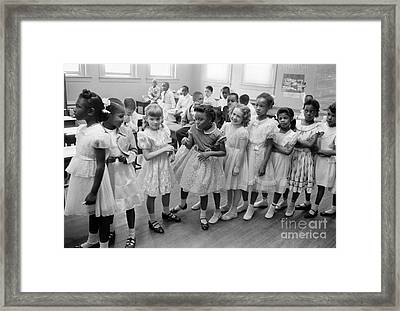 School Desegregation, 1955 Framed Print