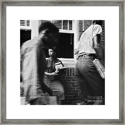 School Desegregation, 1958 Framed Print