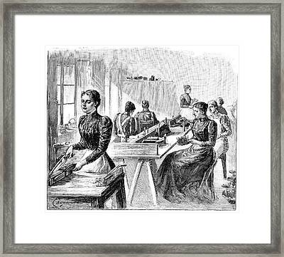 School For The Blind, 19th Century Framed Print by