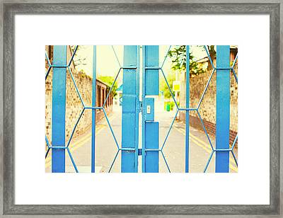 School Gate Framed Print
