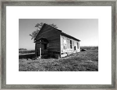School House Framed Print by Rick Rauzi