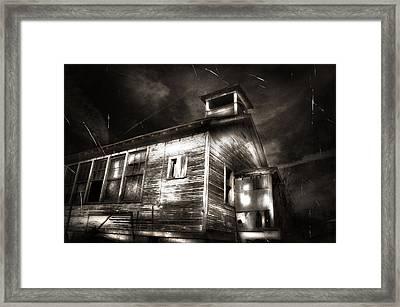 School House Rot Framed Print by Karri Klawiter