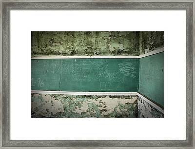 School Is Out Framed Print by April Davis