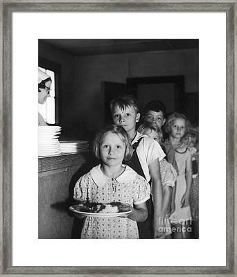 School Lunch, 1936 Framed Print