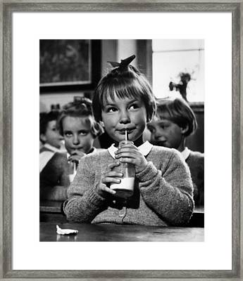 School Milk Framed Print by Kurt Hutton