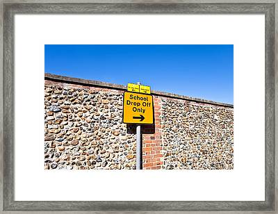 School Parking Sign Framed Print by Tom Gowanlock