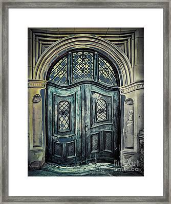 Schoolhouse Entrance Framed Print by Jutta Maria Pusl