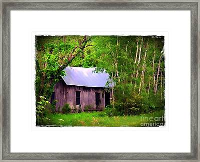 Schoolhouse In Lost Valley Framed Print by Judi Bagwell