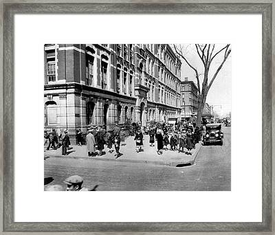 School's Out In Harlem Framed Print