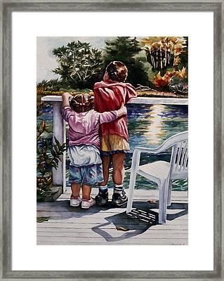 Schooner Creek Framed Print by Maureen Dean
