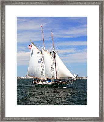 Schooner Thomas E Lannon Framed Print